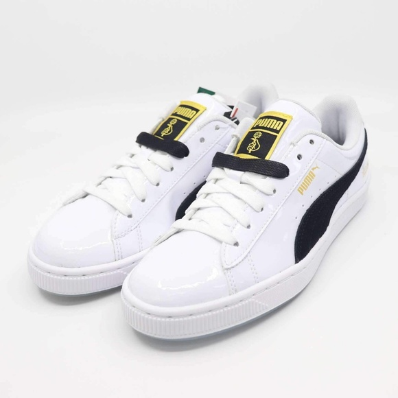 Basket Patent BTS Puma Black   White Shoes NWT e1423be7c
